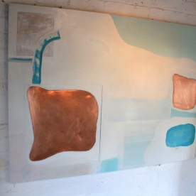 """Copper Blue"" £800 [SOLD] 2016, 150x100cm, Oil on Copper & Genuine Gesso"